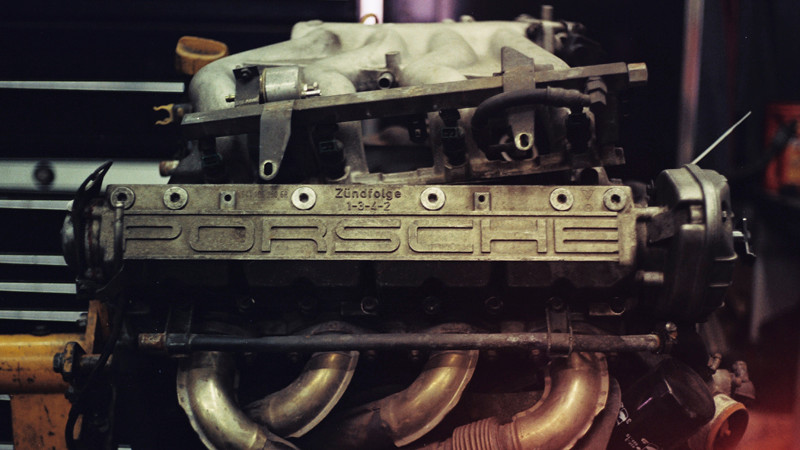 image of a porsche R1-E046 Engine under repair in Autobahn Centre's Shop